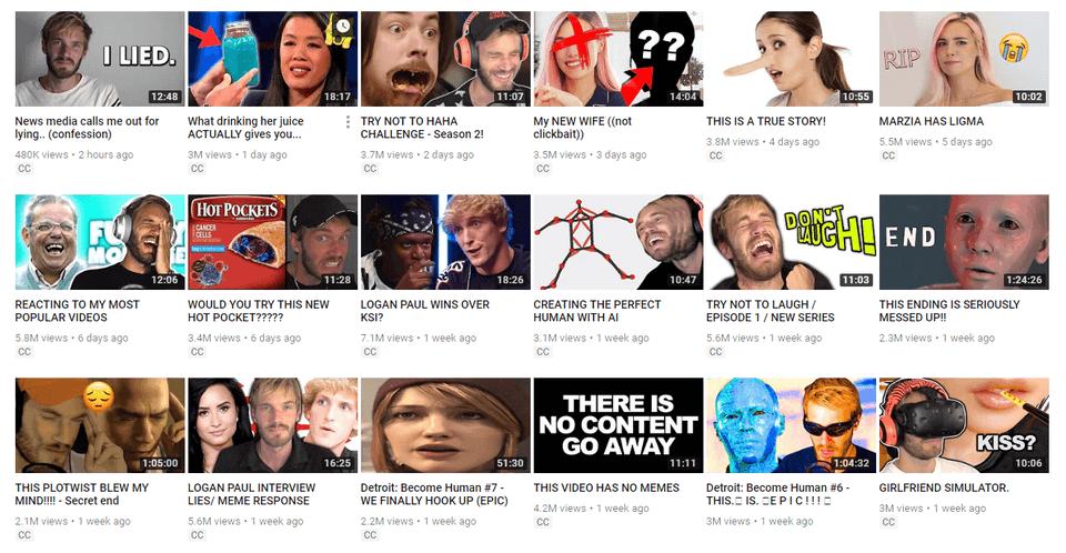 A monetized YouTube channel