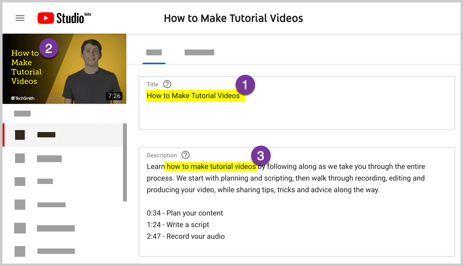 Choose the content for your Youtube channel