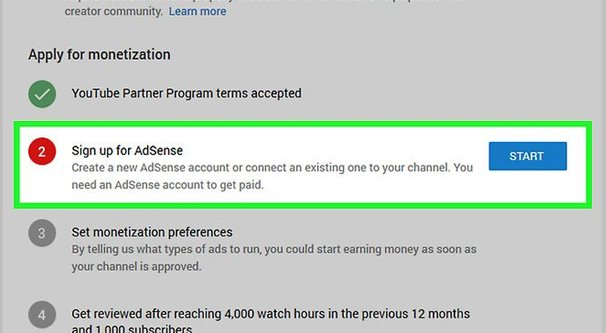Sign up for AdSense safely to own a monetized YouTube channel