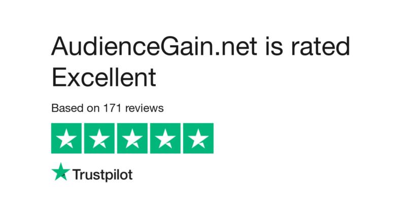 audiencegain's-rating-on-trustpilot