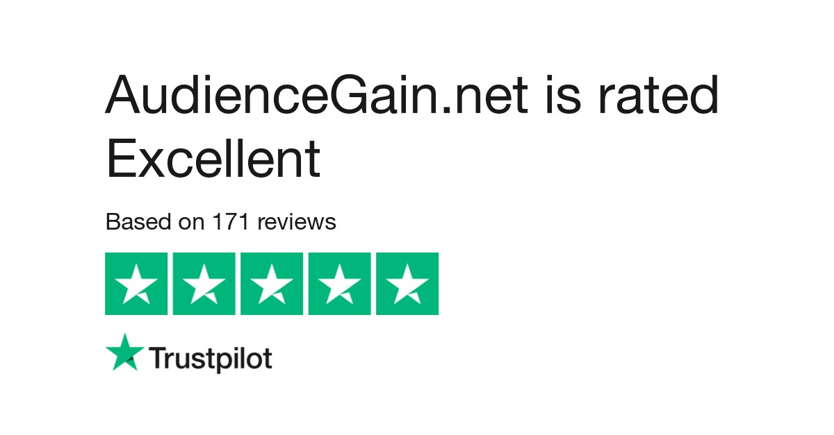 audiencegain's rating on trustpilot