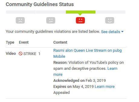 YouTube Community Violation