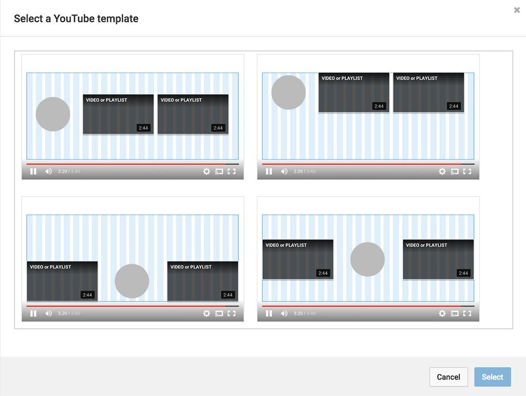 You can customize the layout for other videos located at the bottom of the video
