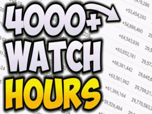 시청 시간 4000 시간