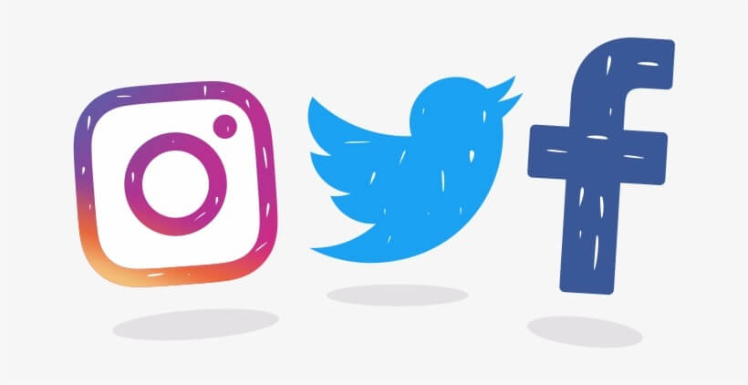 Facebook, Instagram, Twitter