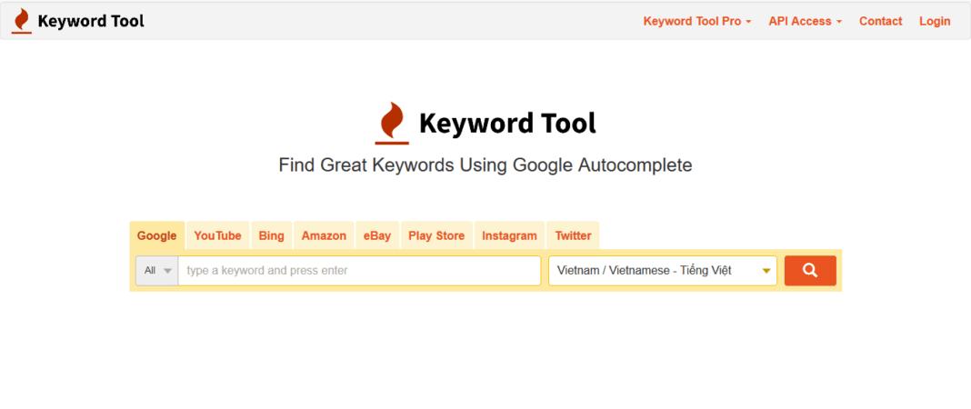 Keyword Tool 툴
