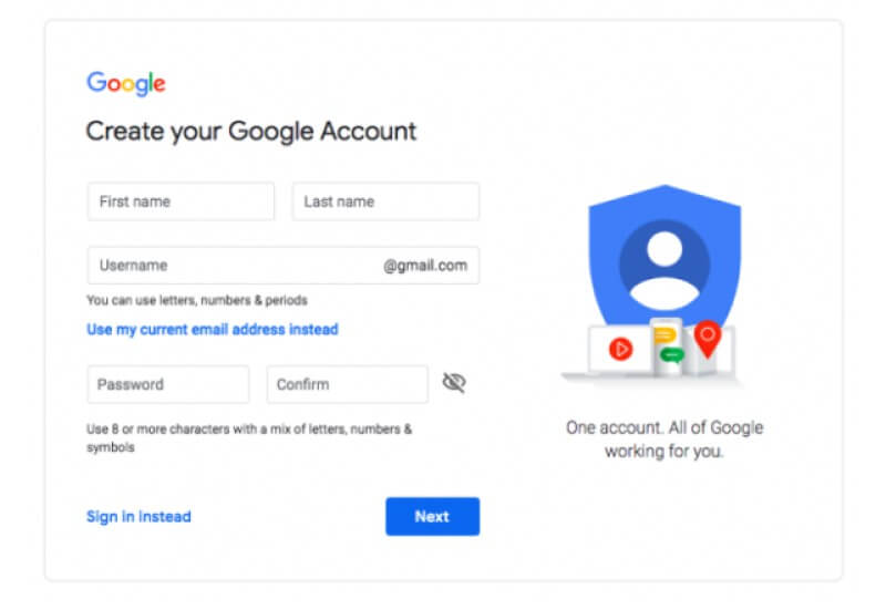 creating-a-youtube-channel-Create-a-Google-account